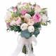 букет невесты из роз и ранункулюсов